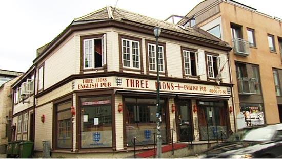 Three Lions pub ligger i Brattørgata 10-12B i Trondheim sentrum.
