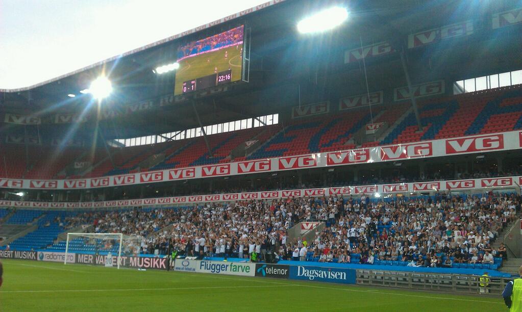 Bortefeltet på Ullevaal stadion, 13. juli 2014.